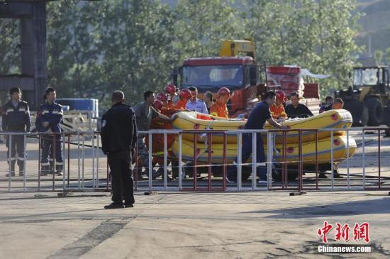 5月22日23时许,山西省太原市清徐县东于煤矿发生透水事故。 韦亮 摄