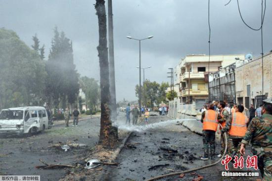 资料图:战乱中的叙利亚。