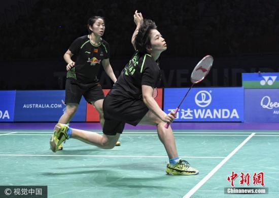 女双为国羽出赛的是陈清晨/贾一凡。图片来源:视觉中国