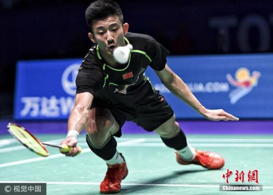 5月28日,第15届苏迪曼杯世界羽毛球混合团体锦标赛决赛于澳大利亚打响,最终中国队以大比分2-3不敌韩国队,无缘七连冠。图为谌龙出战男单。图片来源:视觉中国