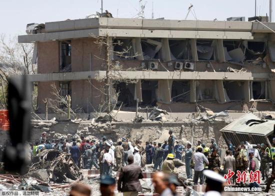 资料图:阿富汗首都喀布尔遭炸弹袭击
