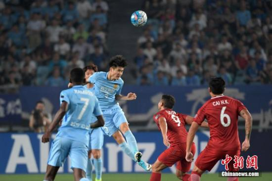 资料图:江苏苏宁队正在比赛。 <a target='_blank' href='http://www.chinanews.com/'>中新社</a>记者 泱波 摄