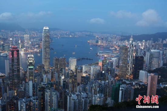 资料图:香港中环。中新社记者 洪少葵 摄