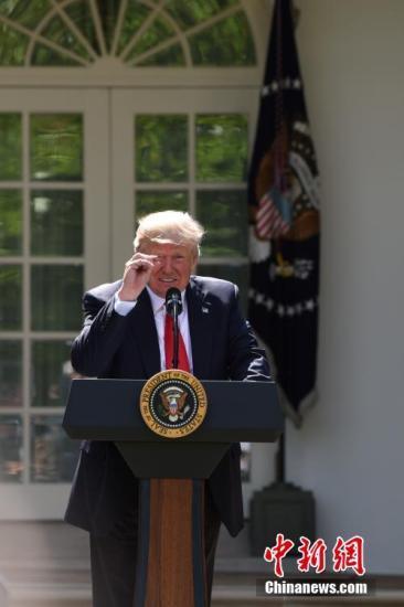 资料图:美国总统特朗普。 <a target='_blank' href='http://www.chinanews.com/'>中新社</a>记者 刁海洋 摄