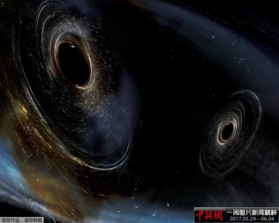 资料图:黑洞假想图。