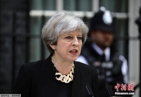 资料图片:英国首相特蕾莎・梅。