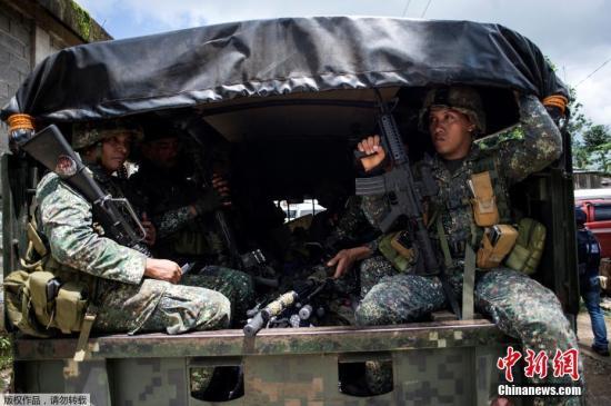 资料图:菲律宾政府军士兵。