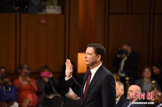 美国联邦调查局(FBI)前局长詹姆斯·科米。 中新社记者 邓敏 摄