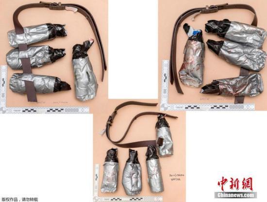 各角度拍摄的假爆炸装置。