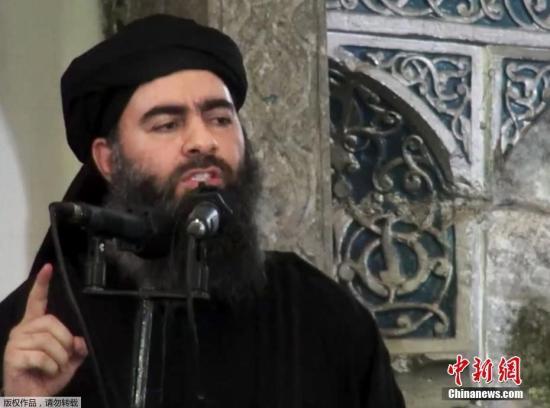 """资料图:""""伊斯兰国""""(IS)最高头目巴格达迪。"""