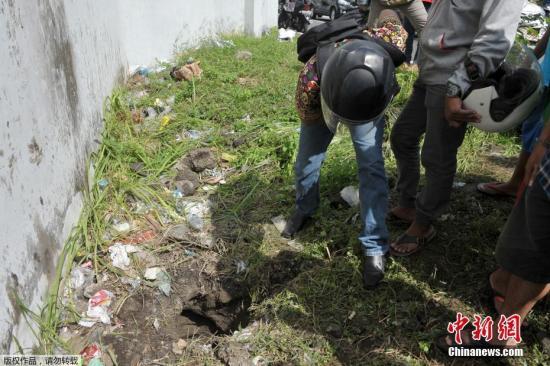 当地时间6月19日,印尼巴厘岛登巴萨市,Kerobokan监狱。Kerobokan监狱发生囚犯越狱事件,4名囚犯在监狱挖了一个地道逃脱。