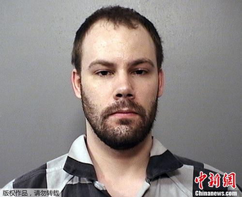 涉嫌绑架章莹颖的美国嫌犯克里斯滕森。