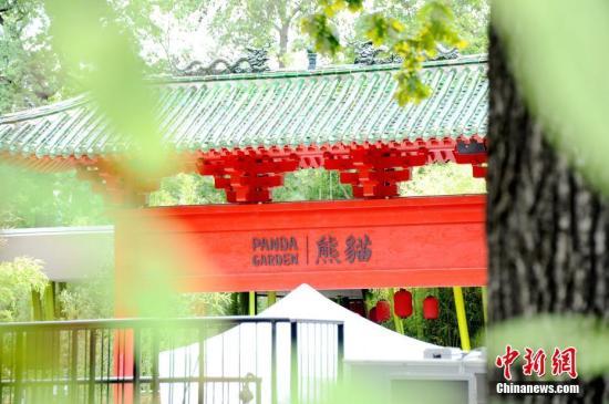 """阔别五年后,德国柏林终于再度迎来一对中国大熊猫。图为7月4日拍摄的开放前夕的柏林动物园大熊猫馆。7月5日,来自中国的""""梦梦""""和""""娇庆""""将正式与德国公众见面。<a target='_blank' href='http://www.chinanews.com/'>中新社</a>记者 彭大伟 摄"""