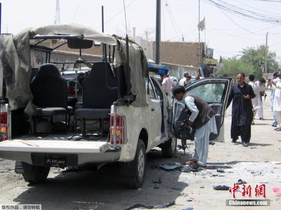资料图片:当地时间2017年7月10日,在巴基斯坦西南部俾路支省杰曼地区发生一起自杀式袭击,除袭击者死亡外,袭击还导致包括一名高级警官在内的两人死亡,另有12人受伤。