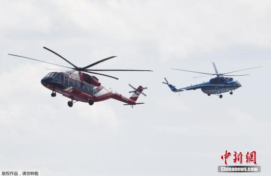 第14届莫斯科航展开幕 中