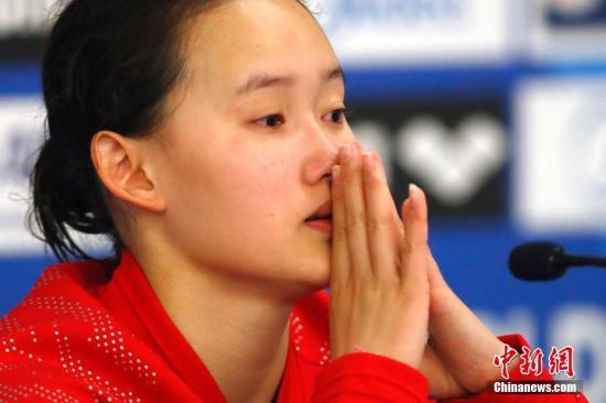 布达佩斯世锦赛女子10米台,任茜摘得铜牌。 中新社记者 富田 摄