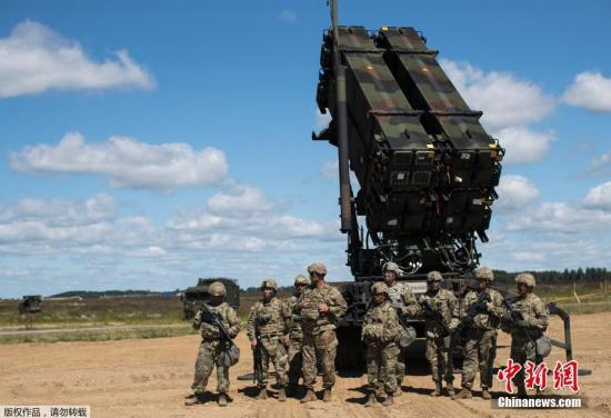 """美军防空部队参加了2017年""""图布鲁克遗产""""军事演习。"""