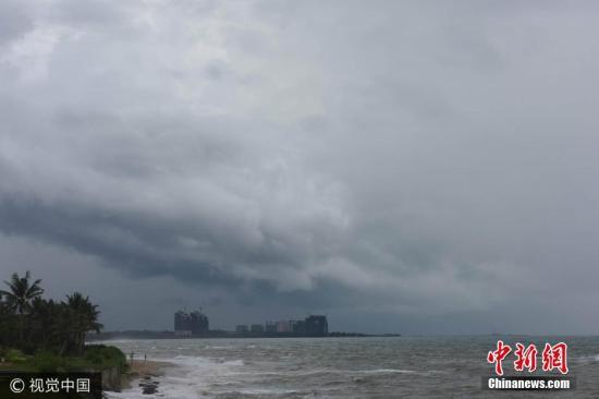 资料图:今年第7、第8号台风22日在南海生成。图片来源:视觉中国