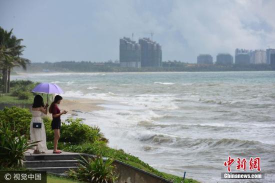 资料图:台风将来袭。图片来源:视觉中国