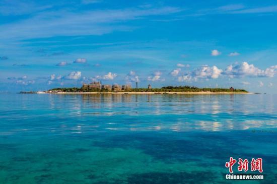圖為2016年7月24日,三沙晉卿島。 中新社記者 駱雲飛 攝