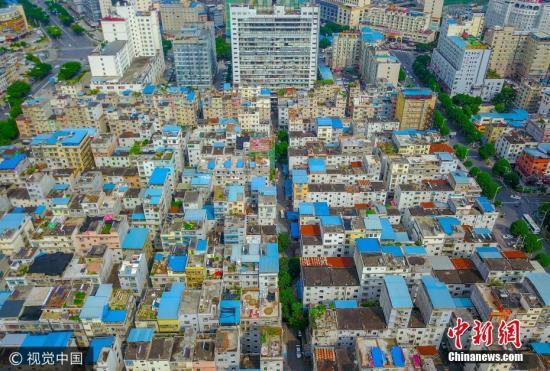 资料图:南宁市城中村。 黄逗 摄 图片来源:视觉中国