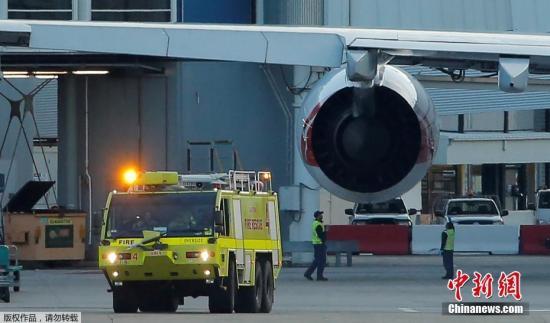材料图:澳洲航空A380客机果机器毛病自愿合返告急迫降。