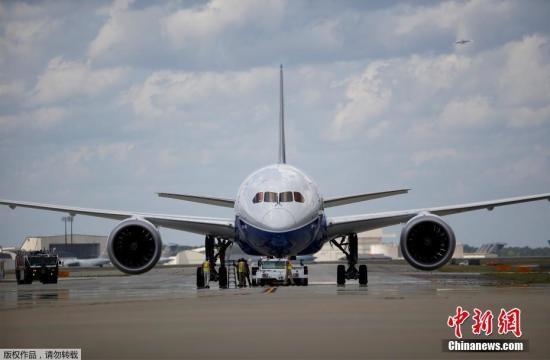 資料圖:波音787飛機。