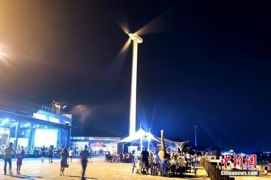 风电车。 <a target='_blank' href='http://www.chinanews.com/'>中新社</a>记者 王东明 摄