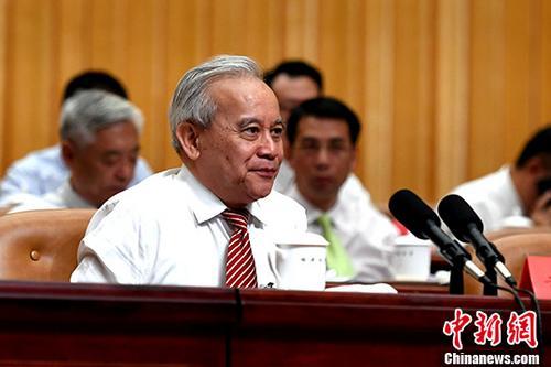 资料图:王钦敏。 中新社记者 王东明 摄