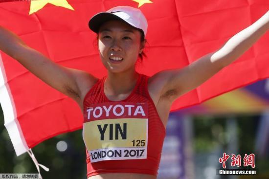 中国选手尹航赛后庆祝。