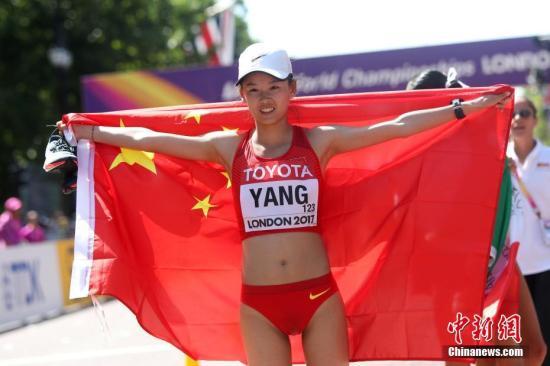 伦敦世锦赛中国田径队2金3银2铜,8枚奖牌的表现,已经是中国田径在世锦赛历史上的第二好成绩。(资料图::图为杨家玉在2017年世锦赛上夺冠。中新社记者 韩海丹 摄)