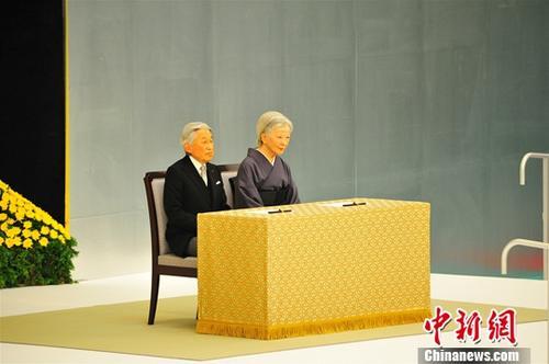 资料图:日本明仁天皇及皇后。<a target='_blank' href='http://www.chinanews.com/'>中新社</a>记者 吕少威 摄