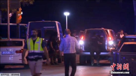 资料图:巴塞罗那南部城市坎布里尔斯市发生恐袭。(视频截图)