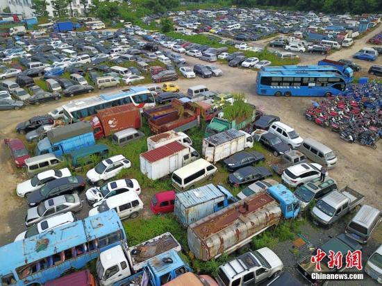 材料图:报兴灵活车。a target='_blank' href='http://www.chinanews.com/'种孤社/a记者 陈文 摄