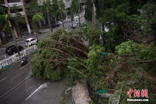 """台风""""天鸽""""重创澳门 解放军展开多路救助"""