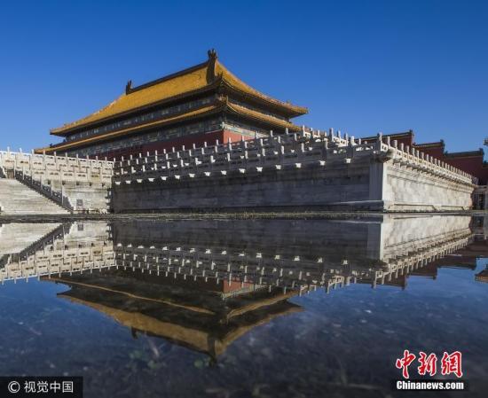 资料图:雨后故宫。杨东 摄 图片来源:视觉中国