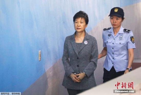 资料图片:韩国前总统朴槿惠。