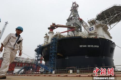 资料图:江苏南通一家造船厂。<a target='_blank' href='http://www.chinanews.com/'>中新社</a>记者 泱波 摄