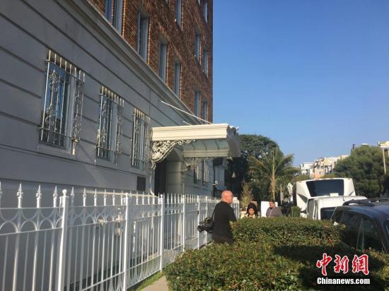 当地时间8月31日,美国旧金山格林街2790号,俄罗斯驻旧金山总领事馆。当天,美国国务院下令俄罗斯在9月2日前关闭旧金山总领事馆和华盛顿及纽约的两处建筑,以实现外交使团对等。 <a target='_blank' href='http://www.chinanews.com/'>中新社</a>记者 刘丹 摄
