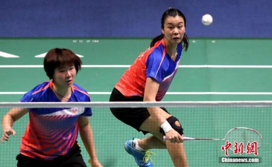 資料圖:湯金華(右)在雙打比賽中。 <a target='_blank' href='http://www.pirsyg.live/'>中新社</a>記者 張宇 攝