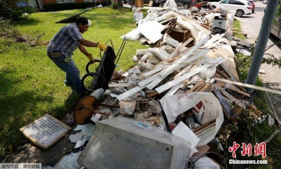 """美迎全国祈祷日:飓风""""哈维""""造成巨额经济损失"""