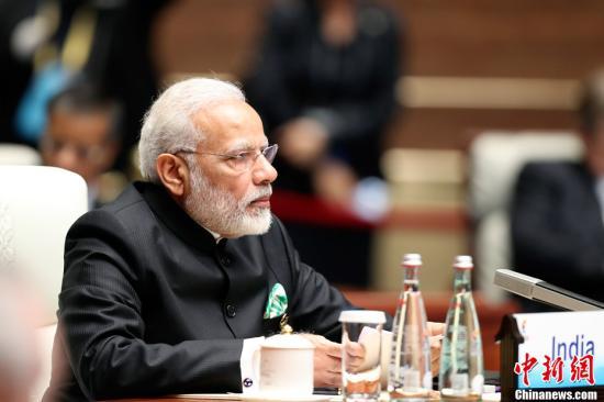 资料图:印度总理莫迪。/p中新社记者 盛佳鹏 摄