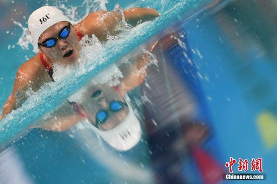 9月3日,天津奥林匹克中心游泳跳水馆,浙江队叶诗文夺得女子200米个人混合泳项目冠军。 <a target='_blank' href='http://www-chinanews-com.scmfqy.com/'>中新社</a>记者 武俊杰 摄