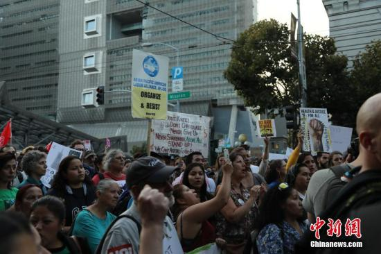 资料图:美国民众示威游行反对特朗普废除DACA移民计划。 <a target='_blank' href='http://www.chinanews.com/'>中新社</a>记者 刘丹 摄