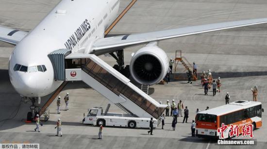 资料图片:客机在日本羽田机场着陆。