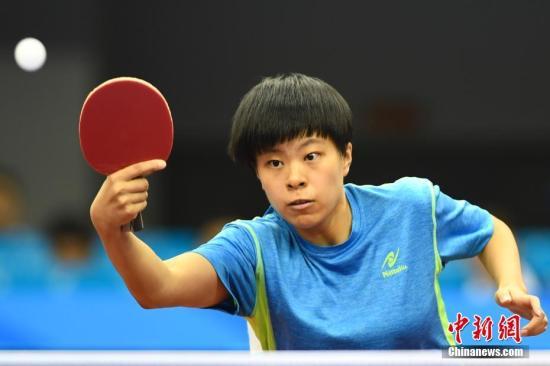 王艺迪在比赛中。(资料图) 中新社记者 武俊杰 摄