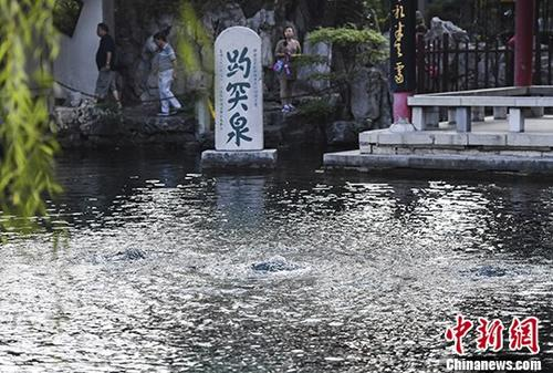 """趵突泉连续喷涌14年 """"济南泉·城文化景观""""将申遗"""