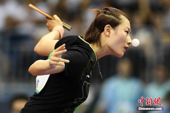资料图:丁宁的女单冠军荒已延续一年有余。 <a target='_blank' href='http://www.chinanews.com/'>中新社</a>记者 武俊杰 摄