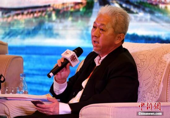 材料图:马去西亚《星洲日报》总编纂郭江浑。a target='_blank' href='http://www.chinanews.com/'中新社/a记者 张斌 摄