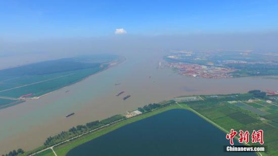 资料图:航拍如皋长青沙备用水源。于从文 摄